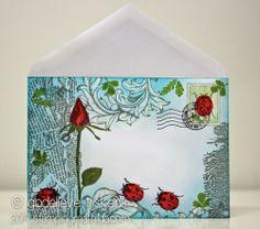 Mail art - inspiration. StampingMathilda - altered envelope