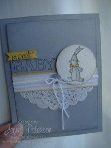 Baby, We've Grown #baby #newbaby #stampinup #bunny #card #jennympeterson #lakeshorestamping