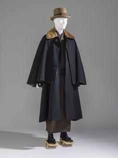 Man's Kimono coat. Japan, Taisho period to Shōwa period Silk plain weave. Era Taisho, Taisho Period, Japanese Coat, Japanese Men, Male Kimono, Kimono Coat, 1930s Fashion, I Love Fashion, Men's Fashion