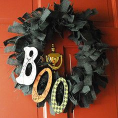 Cool & Creepy Halloween Decorations: Gothic Wreath (via Parents.com)This would be really cute using a black feather bo