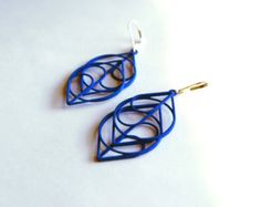 The Heart Modern Striking 3D Printed Earrings. A new by XLDesigns