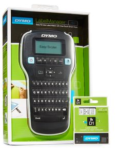 DYMO LabelManager 160 Handheld Label Maker with 1 extra roll of D1 Labeling Tape - Bundle
