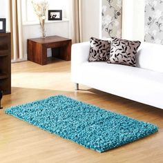 The Veronica Rug Collection is handmade in India with a soft, silky Polyester pile and a cloth backing. This heavyweight collection is very eye catching and is available in three standard rectangular sizes and a huge selection of fashionable colours. Room Color Schemes, Room Colors, Colours, Living Room White, Rugs In Living Room, High Pile Rug, Small Area Rugs, Teal Area Rug, Rugs Online