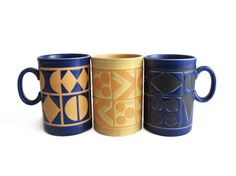 Vintage Staffordshire Pottery mugs are modern cool.