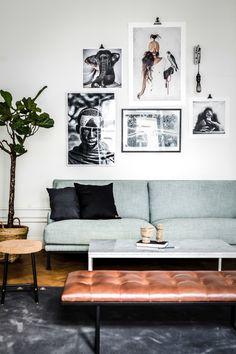 eclectic sccandinavian apartment, cactus, large scandinavian apartment, large doors, herringbone floors,