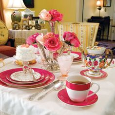 Set the Stage....Conversation will flow as freely as tea at a beautifully set table for two.