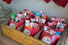 Outdoor movie birthday party idea via www.karaspartyideas.com