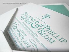 Phil & Joanne's Letterpress Wedding Invitations - Canvas Stationery Boutique Letterpress Wedding Invitations, Bespoke Design, Affair, Stationery, Boutique, Canvas, Modern, Projects, Custom Design