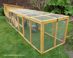 The Dorset Chicken Coop with an extra long double run Mobile Chicken Coop, Small Chicken Coops, Easy Chicken Coop, Portable Chicken Coop, Chicken Coup, Chicken Coop Designs, Chicken Runs, Chicken Coop With Run, Backyard Chicken Coop Plans