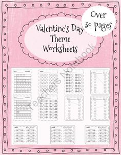 Valentines Day Worksheets 30+  product from CurriculumCounts on TeachersNotebook.com