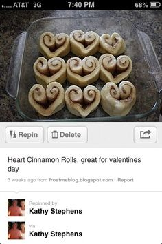 So cute for valentines breakfast