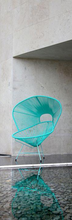 Acapulco Sol | Interior Design By Davidpompa | Woven Plastic Strings | Aqua  Blue | Turquise