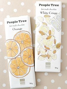 People Tree Fair Trade Chocolate /  packaging design / brand package / design inspiration / дизайн упаковки шоколада