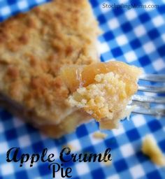 Apple Crumb Pie is delicious!  You will love this easy dessert recipe!.