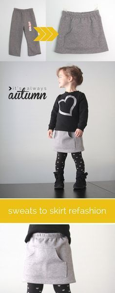 fácil tutorial de costura muestra cómo encender pantalones en una falda bolsillo canguro lindo