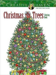 Creative Haven Christmas Trees Coloring Book: Amazon.ca: Barbara Lanza: Books