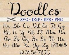 Doodles Cursive Monogram Svg Dxf Eps Png Digital Monogram, Files for Cricut & Silhouette Hand Lettering Fonts, Cool Lettering, Calligraphy Fonts, Monogram Fonts, Ttf Fonts, Cursive Fonts, Handwriting Fonts, Penmanship, Fancy Fonts