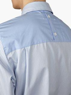 Maison Martin Margiela 10 Men 's Blue Yoke Back Shirt | oki-ni