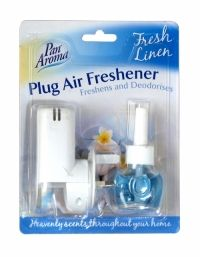 PAN AROMA PLUG AIR FRESHENER FRESH LINEN Air Freshener, Chemistry, Health And Beauty, Plugs, Household, Fragrance, Stuff To Buy, Shopping, Buttons