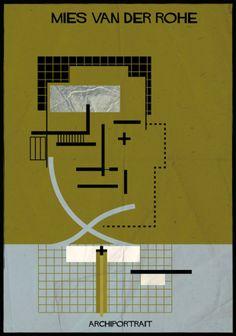Archiportrait Mies van der Rohe by Federico Babina
