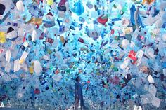 New Art Installation Shows Haunting Reality of Ocean Plastic Pollution - Scuba Diving, Freediving, T Ocean Pollution, Plastic Pollution, Waste Art, Art Environnemental, Chelsea Manning, Instalation Art, Trash Art, Plastic Art, Plastic Bottles