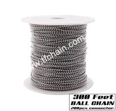 300 feet ball chain with 200 free connector #ballchain #beadchain #militarydogtagballchain #militaryballchain #stainlessteelballchain #ballchainnecklace #ballchainspool #beadchainspool  #tfchain #2.4mmballchain #2.0mmballchain Dog Tags Military, Military Ball, Pos Display, Roller Blinds, Ball Chain, Metal, Free, Accessories, Color