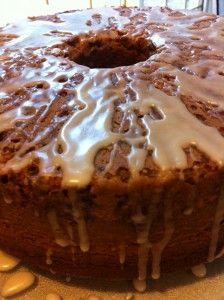 Butter Pecan Rum Cake with Maple Rum Glaze