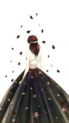 Anime Cartoon Kunst, Cartoon Art, Cute Girl Drawing, Cute Drawings, Chibi Manga, Image Pinterest, Arte Fashion, Lovely Girl Image, Cute Girl Wallpaper