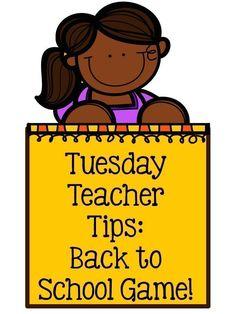 Fern Smith's Classroom Ideas Tuesday Teacher Tips: Back to School