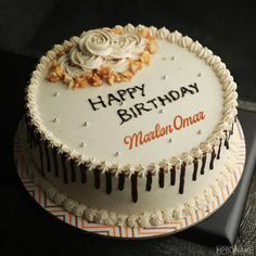 Caramel Birthday Cake Images With Name Online