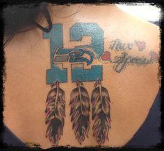 Seahawk 12 man tattoo!!!