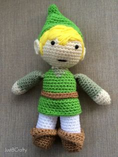 Link Doll from The Legend of Zelda - Free Amigurumi Pattern here: http://www.justbcrafty.com/2014/02/make-your-own-amigurumi-link-wind-waker.html