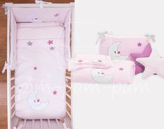 Baby Bedding - The Moon and the stars - Pink