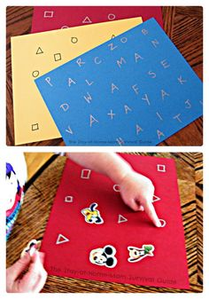Learning Letters and Shapes with Stickers [Contributed by The Stay-At-Home-Mom Survival Guide] - #kids #parenting #preschool #kbn
