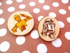 Star wars C3po pin wooden brooch wood gift geek handcrfted  nerd #StarWars #pin #C3PO #geek #nerd #gift