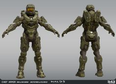 High Poly by Dan Sarkar Techsuit by Kolby Jukes and Sean Binder Low Poly and Textures by Kyle Hefley Master Chief Armor, Halo Master Chief, Armor Concept, Concept Art, Halo 5 Armor, John 117, Halo Cosplay, Halo Game, Halo 3