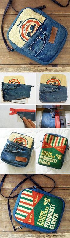 Messenger Bag From Old Jeans