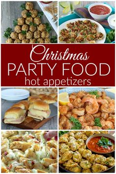 Whether you are hosting the party, or having friends and family over for a get-together, you will LOVE these Christmas Party Food ideas! Christmas Eve Appetizers, Christmas Party Snacks, Christmas Buffet, Xmas Food, Christmas Cooking, Appetizers For Party, Appetizer Recipes, Christmas Recipes, Christmas Foods
