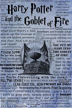 quotes from book 4  Harry Potter and the Goblet of Fire...seems like more from the movie