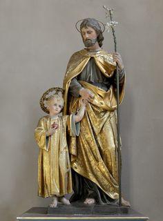 Catholic Saints, Roman Catholic, Catholic Pictures, Jesus Loves Us, Jesus Christ Images, Art Icon, Holy Family, St Joseph, Mother Mary