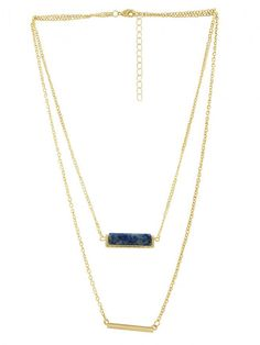 Sequence Blue Lapis Layer Necklace
