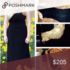 Black prom dress Claudine prom dress in PERFECT condition. The material is jersey so it's nice and stretchy. It has a ruche detail in the middle and really nips in at the waist. Super comfortable to wear! claudine Dresses Prom