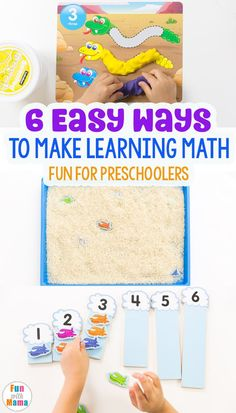 6 Easy Ways to Make Learning Math FUN! #homeschool #preschool #teachingtoddlers