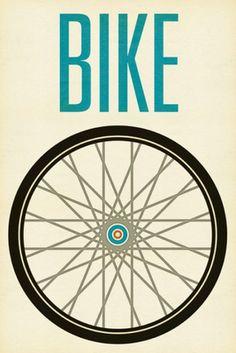 bike, bicycle, poster, print, art, design, bike poster, bicycle poster, art