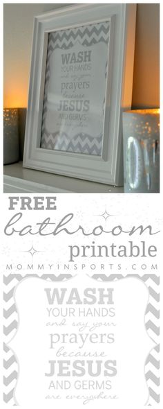 Looking for a cute printable to dress up your kids bathroom? They won't forget to wash their hands with this hanging near their sink! Print out this FREE bathroom printable now!