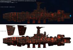 Yamato Battleship, Star Blazers, Other Space, Dieselpunk, Cyberpunk, Science Fiction, Fantasy Art, Steampunk, Empire
