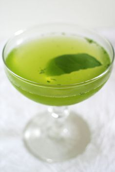 The Silent Encore (adapted from Drink Well)      1 oz. Yellow Chartreuse      1 oz. gin      juice from half a lime      5 basil leaves