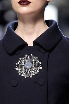 thecollectionblog:    Statement brooch at Bottega Veneta F/W 2012