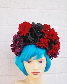 Dia De Los Muertos Headband Flower Crown Day of the Dead by LilaJo, $45.00