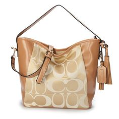 Fashion And Cheap Coach Legacy In Signature Medium Khaki Shoulder Bags ANS Is Loved By More And More People!